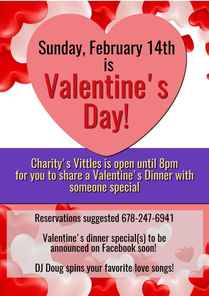 Charity's Vittles Valentine's Day Dinner 2021- Charitysvittles.com