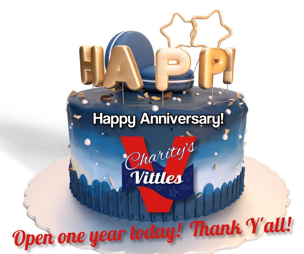 Charity's Vittles One-Year Anniversary